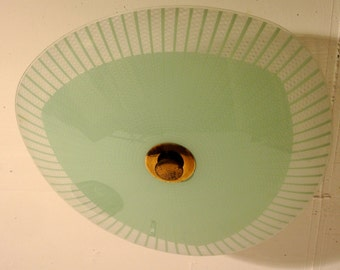 50s ceiling lamp glass with bevelled