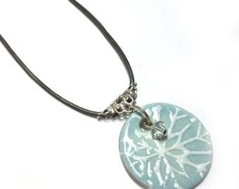 Ceramic Snowflake Pendant