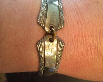 Vintage sterling silver spoon bracelet