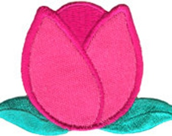 2 7/8'' by 1 7/8'' Tulip Applique Flower Sew On Patch Craft Supplies w/ Free Shipping
