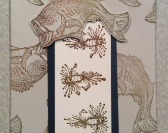Handmade Card of Stamped Fish and Lures