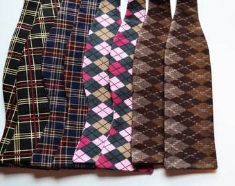 Mens Bow Tie, Mens Plaid Bow Tie, Self-Tie Bow Tie, Self Tie Bowtie, Mens Bowtie, Black Bow Tie, Blue Bow Tie, Pink Bow Tie, Necktie, Tie