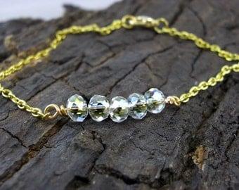 Bracelet Crystal champagne gold