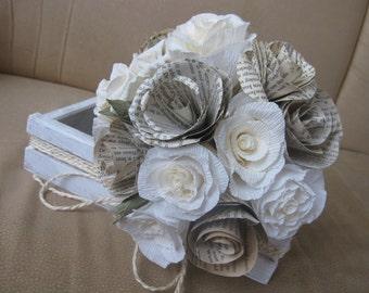 Vintage Paper Wedding Bouquet