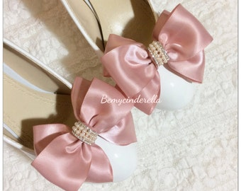 10 colors!!! Bridal shoe clips wedding shoe clips saint ribbon bow shoe clips
