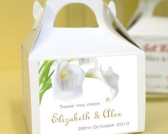Personalised Wedding Favours / Cup Cake Boxes - Calla Lilly