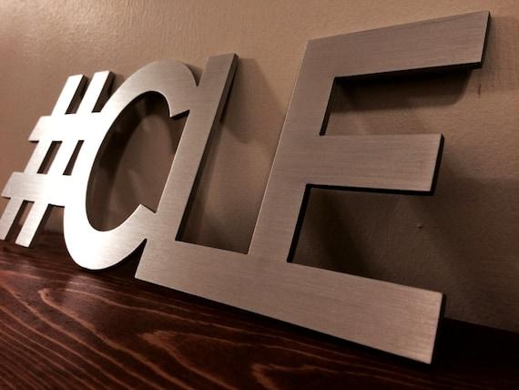 Hashtag cleveland cle sign decor art for Decor hashtags