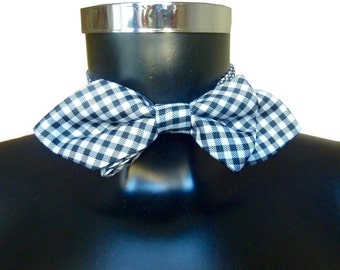 Bow tie black and white checkered