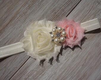 Baby Girl Shabby Flower Headband