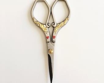 Vintage Style Silver Scissors/Fabric Scissors/Craft Scissors/Dragon Scissors/Fancy Scissors/Medium Size Scissors/Sharp Scissors