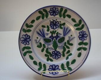 Italian Sigma Taste Seller Plate Set 1970 Folk Art Love Birds