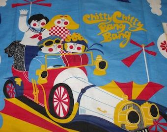 Retro Chitty Chitty Bang Bang 60s Bedspread Vintage film