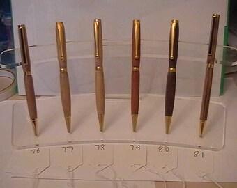Wooden Slim Line Twist Pens