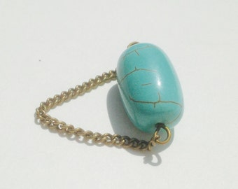 Chain and turquoise ring