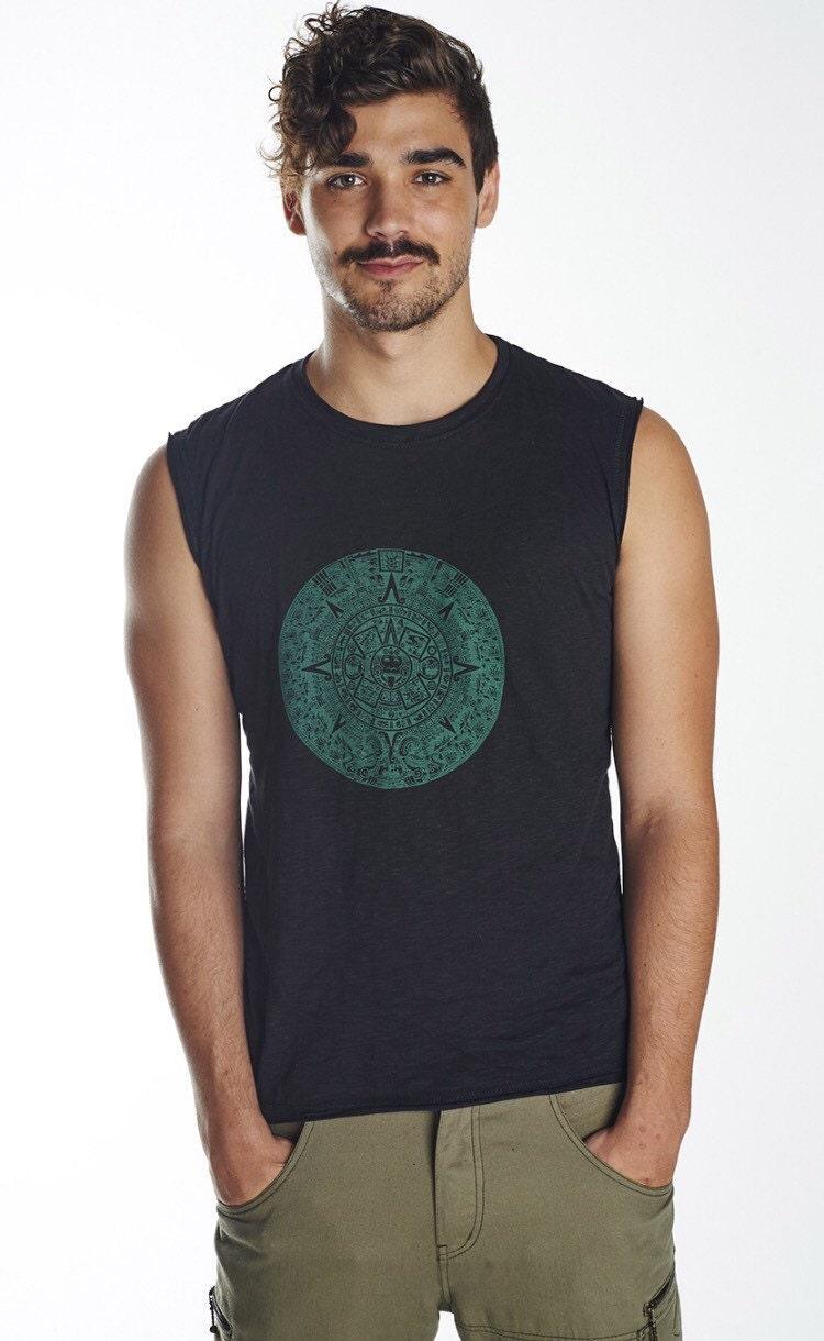 Sale men singlet sacred geometry funky festival men shirt for Singlet shirt for mens