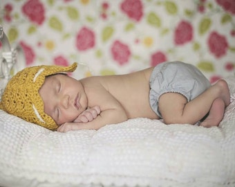 Newborn Pixie Hat, Crochet Pixie Hat, Newborn Fairy Hat, Crochet Baby Bonnet, Elvish Baby Hat, Crochet Newborn Hat, Newborn Photo Prop