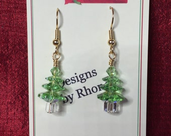 Swarovski Christmas Tree Earrings, Sparkle, Shimmer and Shine!