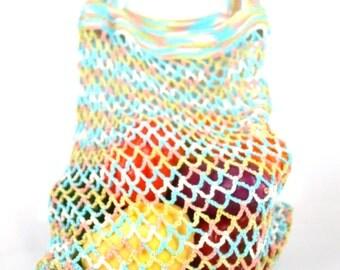 A string bag, avoska, shopping bag, farmers market bag
