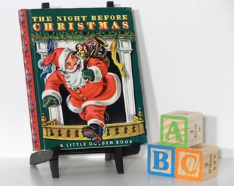 The Night Before Christmas (#20) 1949 Vintage Little Golden Book