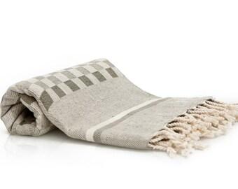 Turkish Bath Towel - Peshtemal Fouta Towel Beach Cover Up Blanket