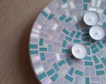 """Bamboo Mosaic Bowl """"Turquoise"""""""