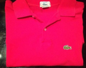 "Vintage Izod Lacoste ""patron"" polo shirt Red size Large"