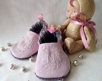 Bub'n'boots Newborn baby girl shoes