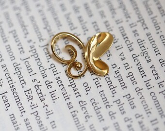 Very cute pendant in 750 18k yellow gold, butterfly shaped 2.26g