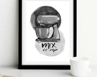 mix it up, bakers, kitchen, decor,