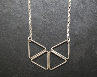 Necklace butterfly triangles pendant