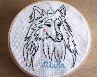 Portrait of dog (or other pet) customizable