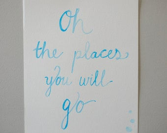 Dr Seuss Quote Watercolor