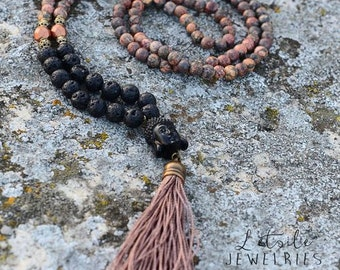 "Necklace necklace beads Buddha ""Zen Méditation"""