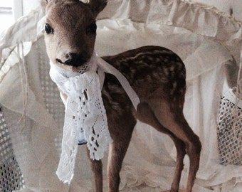 Vintage Bambi, fawn, Fawn standing, taxidermy, specimen