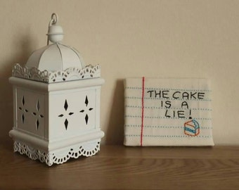 "PORTAL Notepad embroidery ""The cake is a lie"""