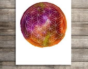 Flower of Life. Sacred Geometry
