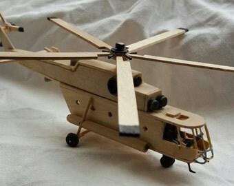 Wooden helicopter airplane children toy