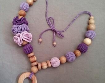Nursing Necklace with Pendant Juniper  Breastfeeding Necklace Teething necklace   Mom Necklace