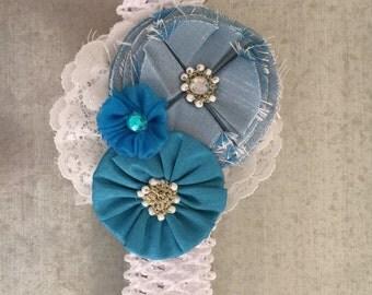 Turqoise & White Headband