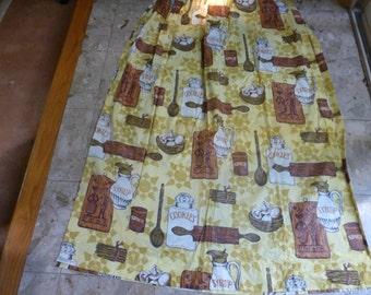 Vintage Kitchen Curtains Drapes 70u0027s Yardage Fabric MCM Kitschy
