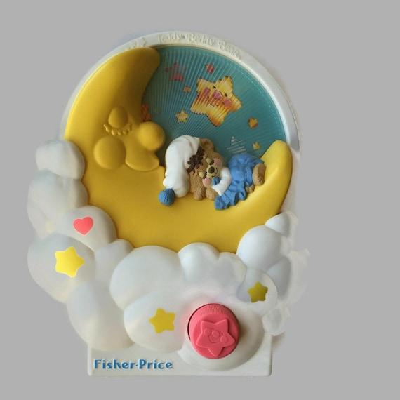 Fisher Price Crib Toys : S vintage fisher price teddy baby crib music box