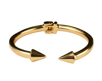 Spiked Open Ended Cuff Bracelet