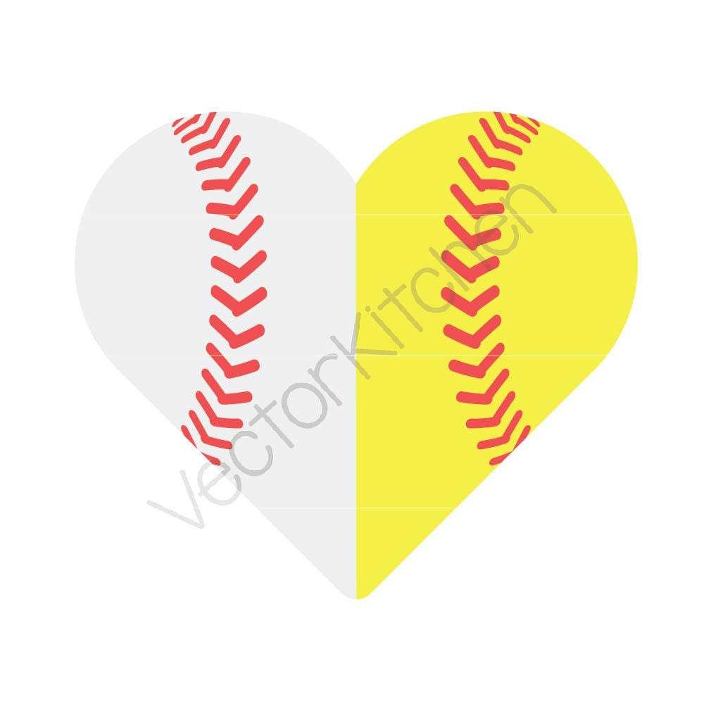 Split Heart Shaped Half Baseball / Softball Ball Cutting