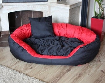 Dog bed/Dog couch with removable cover, 115 x 85 cm