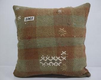 "Handmade Turkish Kilim Pillow 16""x16"" / 40x40  Stripe Kilim Cushion Cover Decorative Pillow,Cushion Cover,Sofa Pillow SP40-1061"