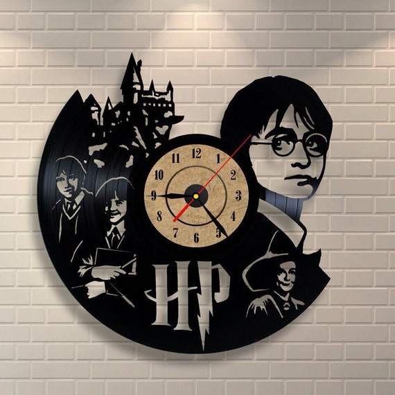 Harry Potter Art Vinyl Wall Record Clock By Vinylastico On