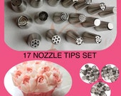 Russian tulip tips Russian piping nozzles 17 pieces High Quality Russian icing  pastry frosting tips 17 piece set free shipping