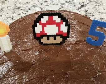 Custom Pixel Cake Toppers