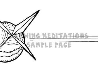 Direction: Coloring Page and Guided Meditation