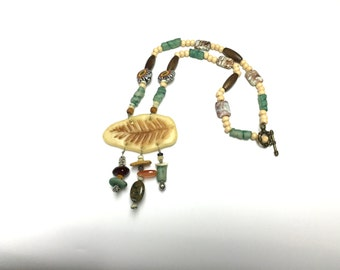 Fern necklace with charms